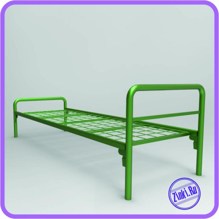 Односпальные кровати металлические в дома отдыха