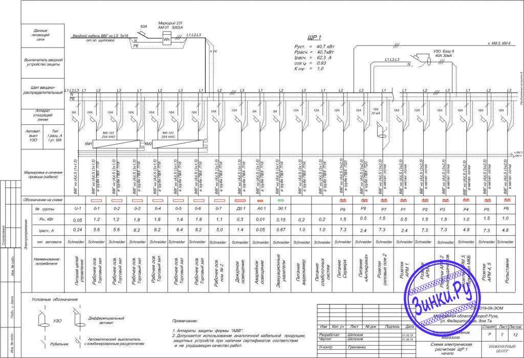 Разработка схем электроснабжения. Москва