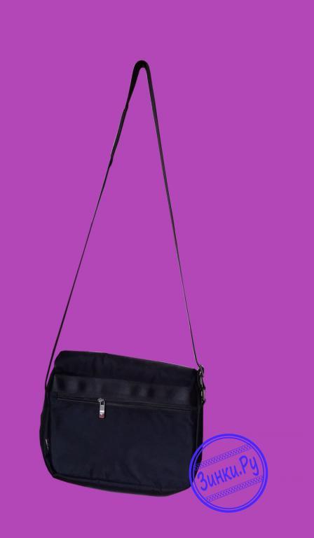 Наплечная сумка кросс-боди черная из полиэстера. Москва. Фото - 2