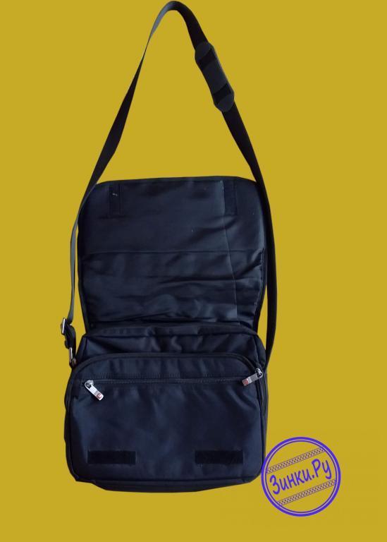 Наплечная сумка кросс-боди черная из полиэстера. Москва. Фото - 3