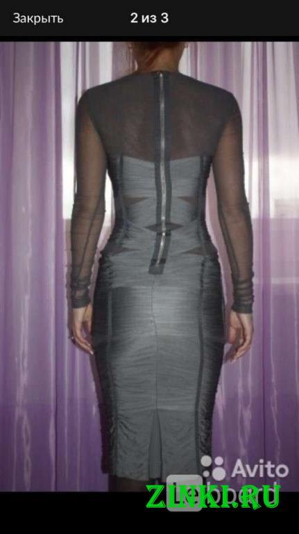 Платье новое dolce&gabbana италия s 42 серое сетка. Москва. Фото - 2
