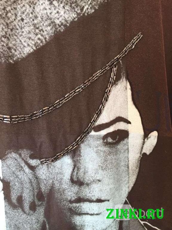 Платье туника gaudi м 46 s чёрная принт рисунок би. Москва. Фото - 7
