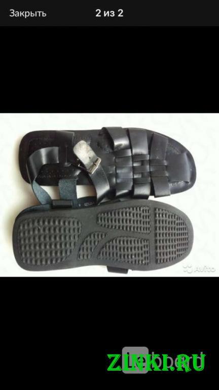 Сандалии новые мужские кожа черные 45 44 размер бо. Москва