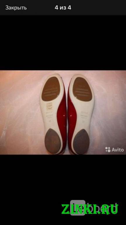 Балетки новые lesilla италия 39 размер красные лак. Москва. Фото - 3