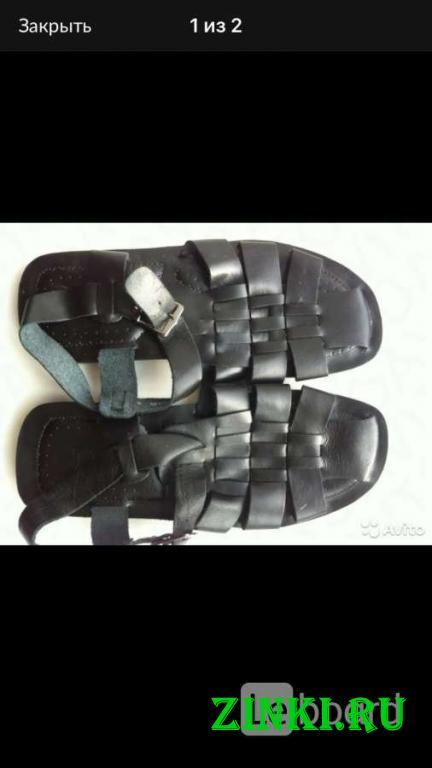 Сандалии новые мужские кожа черные 45 44 размер бо. Москва. Фото - 2