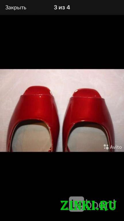 Балетки новые lesilla италия 39 размер красные лак. Москва. Фото - 2