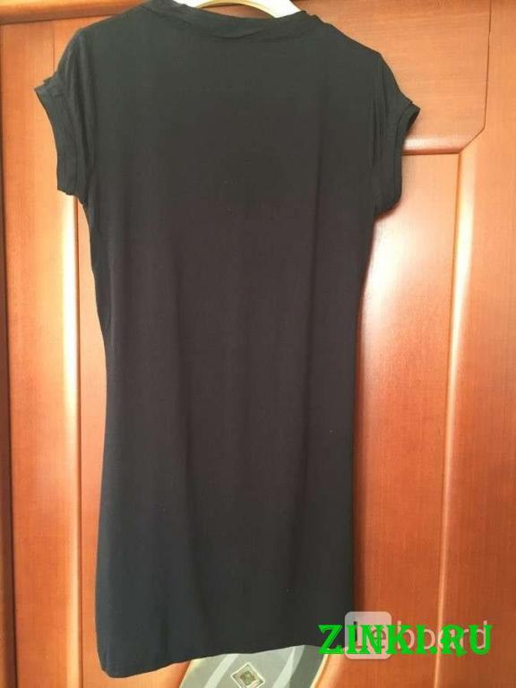 Платье туника gaudi м 46 s чёрная принт рисунок би. Москва. Фото - 5