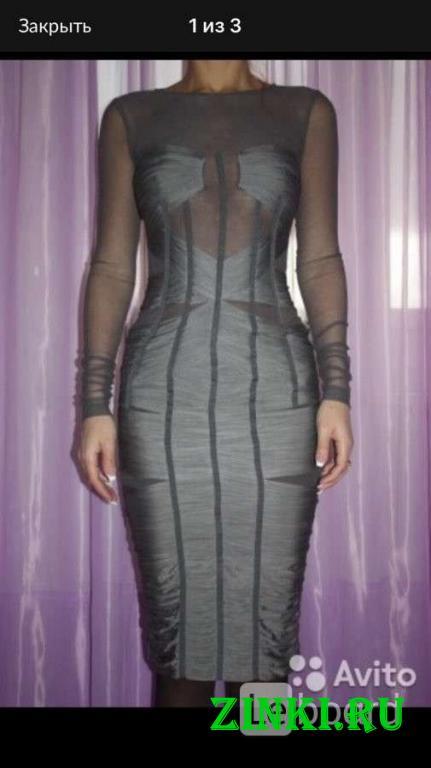 Платье новое dolce&gabbana италия s 42 серое сетка. Москва