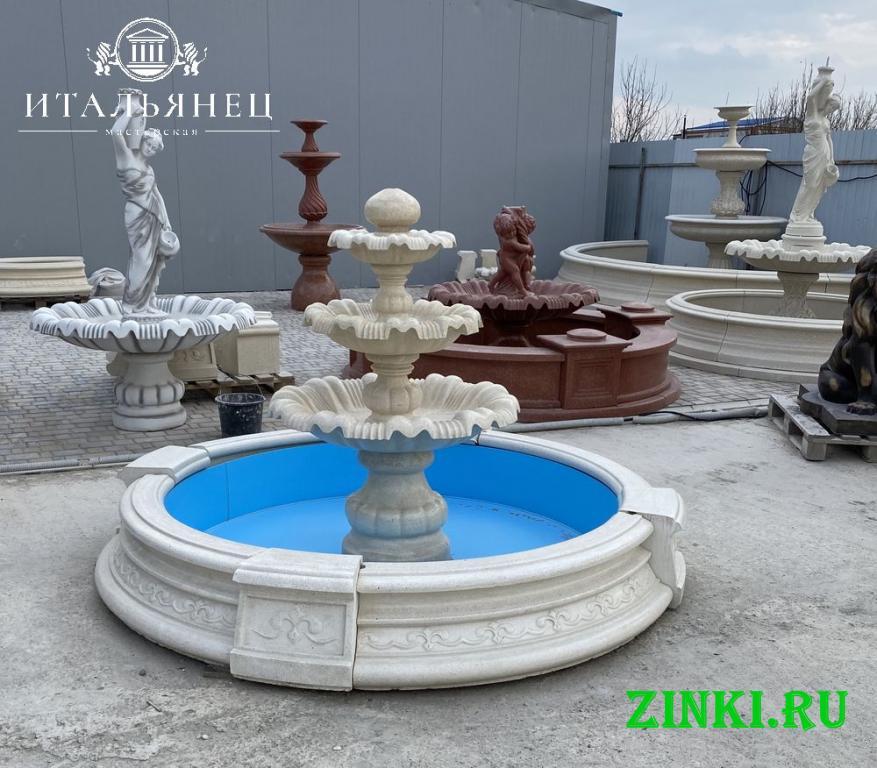Чаша для фонтана из бетона от производителя. Краснодар. Фото - 7